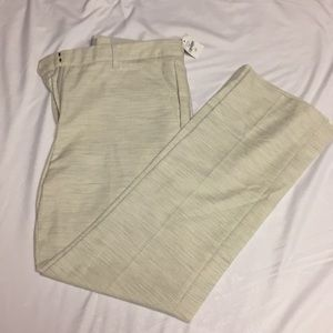 Beige and gray cropped trousers